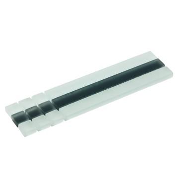 Listello stick mozaiek wit/zwart 4,8x19,5