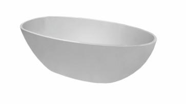 Ellips vrijstaand acryl ligbad 180 x 90 wit