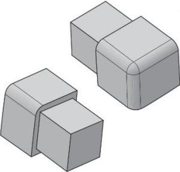 Tegelstrip edp120.91 3w-hoekje per set van 4 stuks