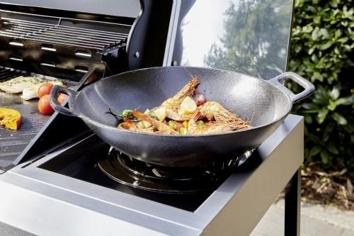 Landmann Selection gietijzeren barbecue grillwok 44x37x12cm