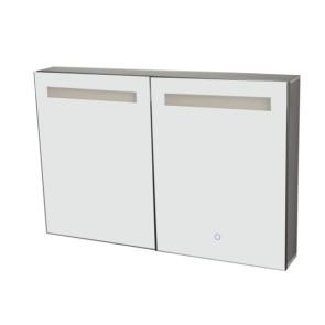 "Best-design ""aluma"" luxe spiegelkast incl. led verlichting 90x60cm"