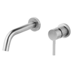 """Best-design rvs-304 """"ore"""" inbouw-wandmengkraan uitl=21cm"""