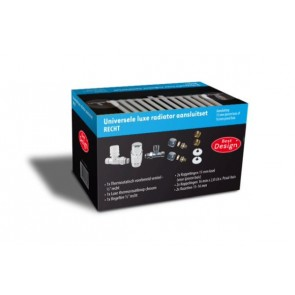 """Best-design luxe radiator-aansluitset """"recht"""" universeel (ds-blauw)"""