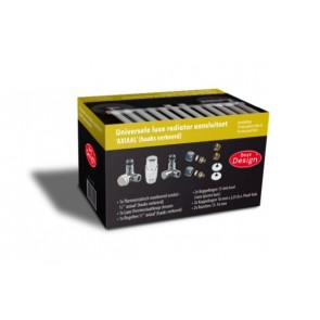 """Best-design luxe radiator-aansluitset """"axiaal"""" universeel (ds-geel)"""