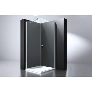 """Best-design """"erico"""" vierkante cabine met 1 swing deur 100x100x200cm nano glas 6mm"""
