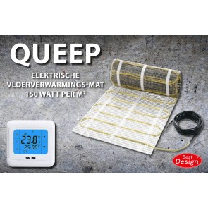 "Best-design ""queep"" elektrische vloerverwarmings-mat 0.5 m2"