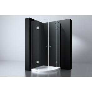 """Best-design """"erico"""" 1/4 rond cabine m.2 deuren 90x90x192cm nano glas 8mm"""