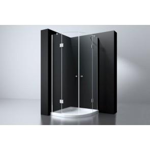 """Best-design """"erico"""" 1/4 rond cabine m.2 deuren 100x100x192cm nano glas 8mm"""