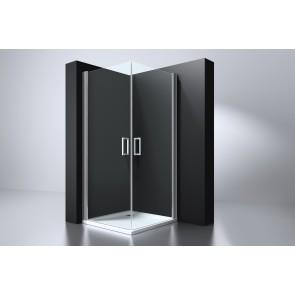 """Best-design """"erico"""" vierkante cabine m.2 deuren 90x90x192cm nano glas 6mm"""