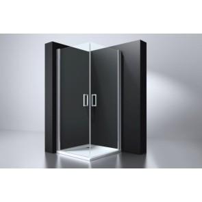 """Best-design """"erico"""" vierkante cabine m.2 deuren 100x100x192cm nano glas 6mm"""