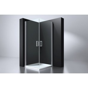 "Best-design ""erico"" vierkante cabine met 2 deuren 100x100x192cm nano glas 6mm"