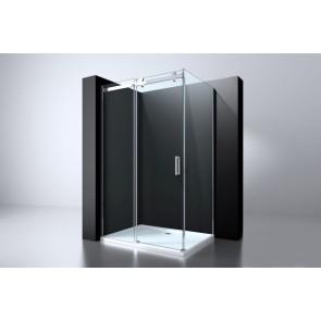 "Best-design ""erico"" schuifdeur & wand 90x117-118,5x200cm nano glas 8mm"