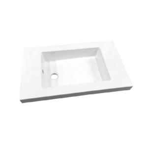 """Best-design """"slim"""" wastafel voor meubel 60 cm (ondiep) 35 cm zonder kraangat"""