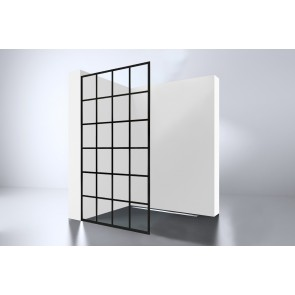"Best-design ""black 1000 screen"" inloopdouche walk-in 1000x2000x10mm"