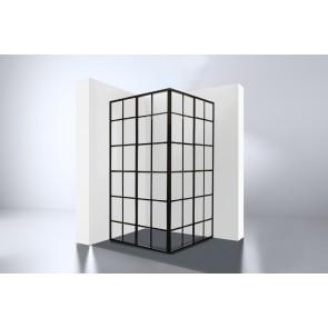 """Best-design """"black-corner"""" douche hoekinstap 990x990x2100x4mm"""