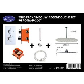 "Best-design ""one-pack"" inbouw-regendoucheset ""verona-p-200"""