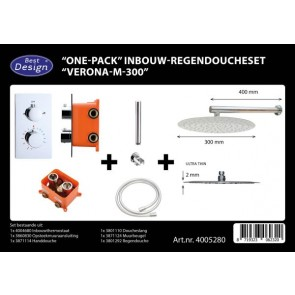 "Best-design ""one-pack"" inbouw-regendoucheset ""verona-m-300"""