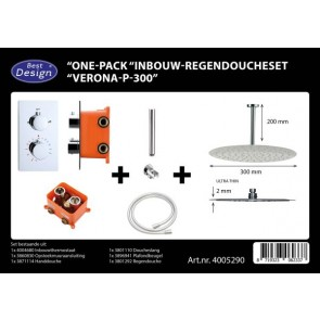 "Best-design ""one-pack"" inbouw-regendoucheset ""verona-p-300"""