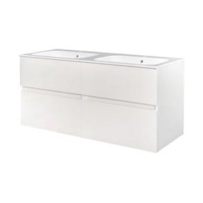 "Best-design ""bora-wit-greeploos"" meubel onderkast 4 laden zonder wastafel 120 cm glans-wit"
