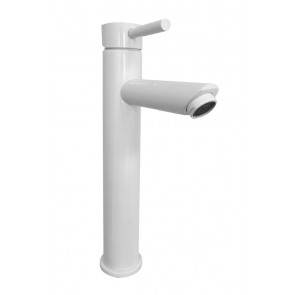 "Best-design ""decee"" hoge wastafelmengkraan ""bianco"" rvs glans-wit"