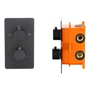"""Best-design """"lacora"""" inbouwthermostaat & inb.box 2-weg 1/2"""" ronde knoppen"""