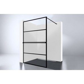 "Best-design ""noire 1200 screen"" inloopdouche walk-in 1200x2000x10mm"