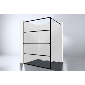 "Best-design ""noire 1400 screen"" inloopdouche walk-in 1400x2000x10mm"