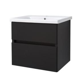 "Best-design ""quick-black-greeploos"" meubel onderkast + wastafel 65 cm mat-zwart"