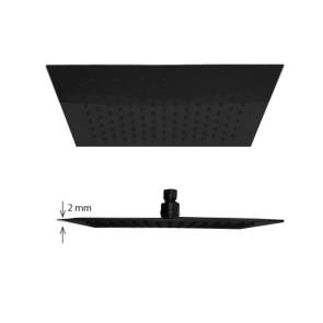"""Best-design rvs """"nero-brause-200"""" regendouche vierkant mat-zwart"""