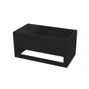 "Best-design ""mona-black-links"" fontein incl.handdoekhouder ""just-solid"" 33x18x16cm"