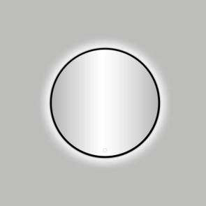 "Best-design nero ""venetië"" ronde spiegel zwart incl.led verlichting diameter  60 cm"