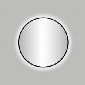 "Best-design nero ""venetië"" ronde spiegel zwart incl.led verlichting diameter  80 cm"