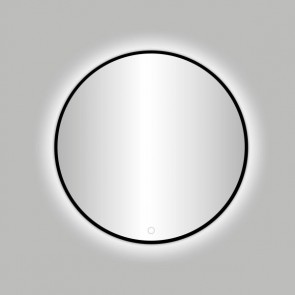 "Best-design nero ""venetië"" ronde spiegel zwart incl.led verlichting diameter  100 cm"