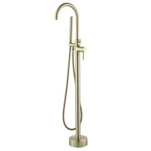 """Best-design """"nancy"""" vrijstaande badkraan h=112 cm mat-goud"""