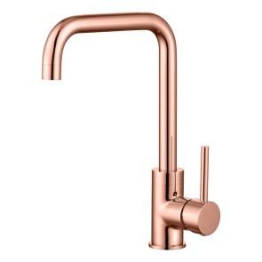 """Best-design lyon """"buco"""" keukenmengkraan h=32 cm rosé-mat-goud"""