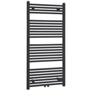 """Best-design """"zwart-ral 9011 zero"""" radiator recht model 1200x600mm"""
