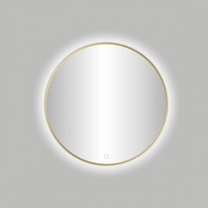 "Best-design nancy ""venetië-thin"" ronde spiegel mat-goud incl.led verlichting diameter  80 cm"