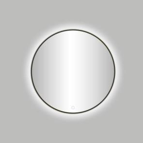 "Best-design moya ""venetië-thin"" ronde spiegel gunmetal incl.led verlichting diameter  80 cm"
