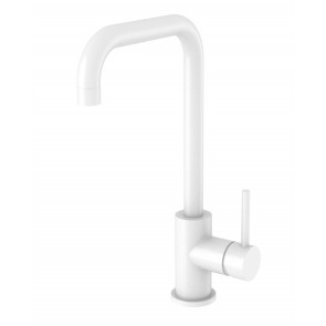 "Best-design white ""zembro"" keukenmengkraan h=32 cm mat-wit"