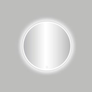"""Best-design white """"venetië-thin"""" ronde spiegel mat-wit incl.led verlichting diameter  60 cm"""
