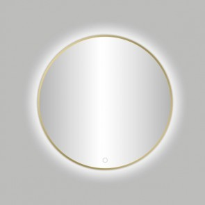 "Best-design nancy ""venetië-thin"" ronde spiegel mat-goud incl.led verlichting diameter  100 cm"