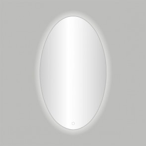 """Best-design """"divo-60"""" ovale spiegel incl.led verlichting b=60 x h=80cm"""