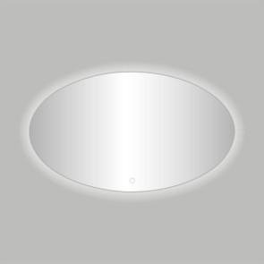 """Best-design """"divo-80"""" ovale spiegel incl.led verlichting b=80 x h=60cm"""