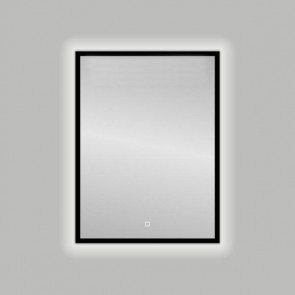 "Best-design nero ""black-solaro"" led spiegel b=60 x h=80cm"