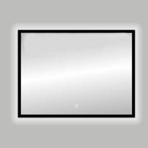 "Best-design nero ""black-solaro"" led spiegel b=80 x h=60cm"