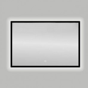 "Best-design nero ""black-solaro"" led spiegel b=100 x h=80cm"