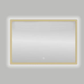 "Best-design nancy ""isola"" mat-goud led spiegel b=80 x h=60cm"