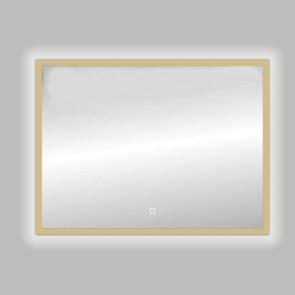 "Best-design nancy ""isola"" mat-goud led spiegel b=100 x h=80cm"