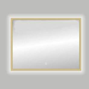 "Best-design nancy ""isola"" mat-goud led spiegel b=120 x h=80cm"