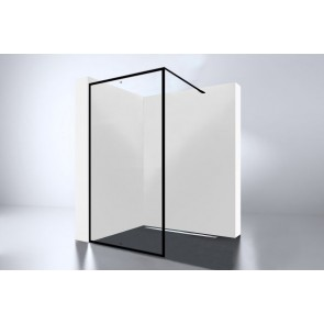 "Best-design ""for-you 900"" zwart inloopdouche walk-in 900x2000x8mm"